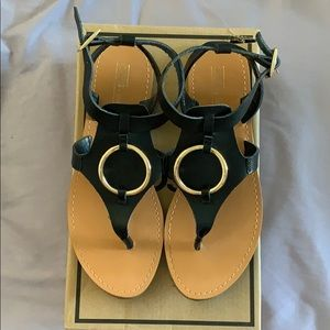 ASOS genuine leather flat sandals. Gently used.